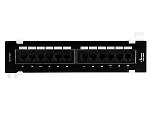 Monoprice 107299 Cat5e Mini 110 Type 12-Port (568A/B Compatible) Vertical Patch Panel