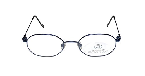 New & Season & Genuine - Brand: Paolo Gucci Style/model: 8201 Gender: Mens/Womens Prescription Ready Fancy Designer Full-rim Eyeglasses/Eyeglass Frame (50-20-140, Matte Navy) (Gucci Hair Brush compare prices)