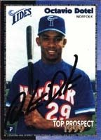 Octavio Dotel Norfolk Tides - Mets Affiliate 1999 International League Top Prospect... by Hall of Fame Memorabilia