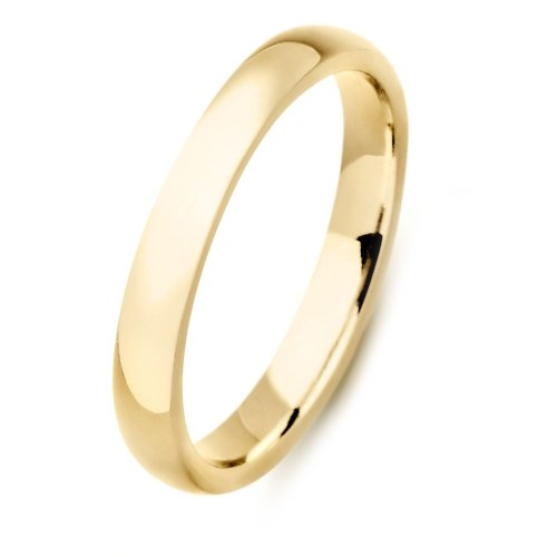 3MM High Polished Stainless Steel Gold Plated Wedding Band-Crazy2Shop