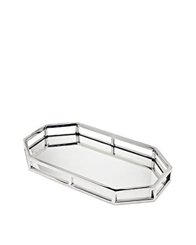 Godinger Aspen Octagonal Gallery Tray, Silver