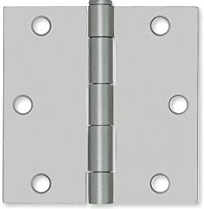 """Liberty B1240 3 1/2"""" Square Corner Door Loose Pin Hinge Zinc, with Screws"""