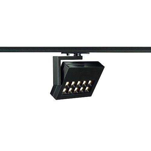 SLV 1-Phasen Strahler Profuno, 18W, Power LED, 3000K, 60 Grad, inklusiv Adapter, schwarz 144060