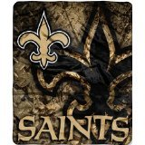 NFL Licensed Royal Plush Raschel Fleece Throw Blanket (New Orleans Saints) at Amazon.com