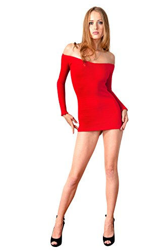 Sexy Stretchy Mini Sweater Dress by KD dance New York Chic, Warm & Comfortable