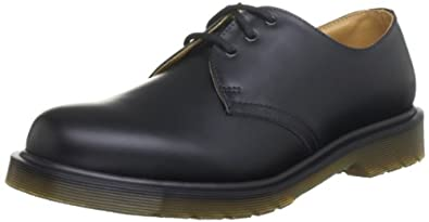 Dr. Martens Original 3 Eyelet 11839002, Chaussures basses mixte adulte - Noir (Noir), 36 EU