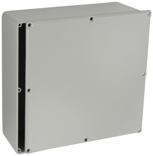 "Bud Industries Cu-478-G Aluminum Econobox, 7-1/2"" Length X 7-1/2"" Width X 2-39/64"" Height, Gray Painted Finish"