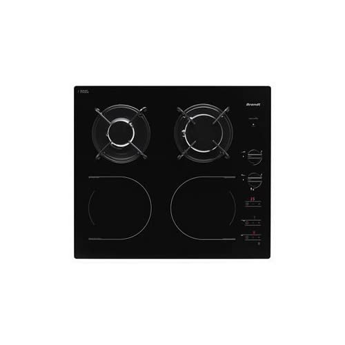 brandt ti1013b brandt ti1013b table de cuisson mixte induction et gaz 4 l ment s 60 cm. Black Bedroom Furniture Sets. Home Design Ideas