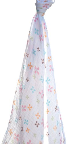 Angel Dear Swaddle Blanket, Floral