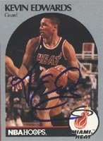 Kevin Edwards Miami Heat 1990 Hoops Autographed Hand Signed Trading Card. by Hall+of+Fame+Memorabilia