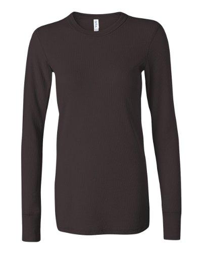Bella Ladies' Long Sleeve Thermal Tee Shirt B8500 (X-Large, Chocolate) front-1038280