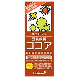 キッコーマン 豆乳飲料 ココア 200ml紙パック×18本入×(2ケース)