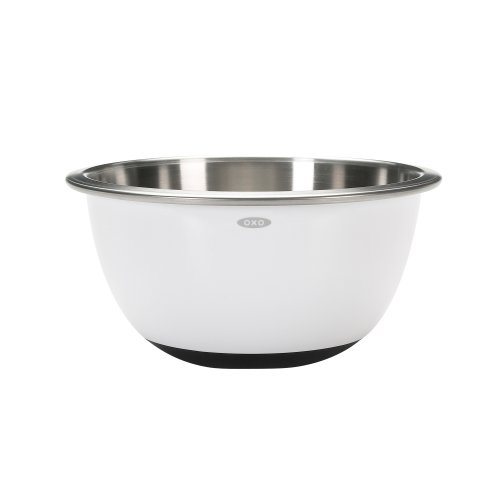 OXO Good Grips Mixing Bowl, Stainless Steel, White, 2.8 Litre