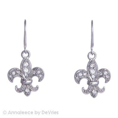 Annaleece Crystal Royal Fleur de Lis - Regional Earrings