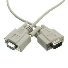 VoojoStore Null Modem Cable, DB9 Male to DB9 Female, UL rated, 8 Conductor, 6 foot