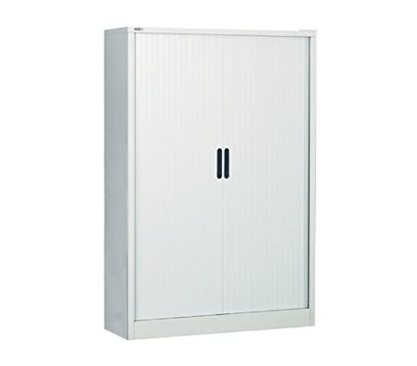 Go Executive 1651 Steel Tambour Cupboard - Height: 1651 MM; Width: 1000 MM; Depth: 486 MM - Color: Black