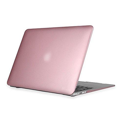 Fintie-MacBook-Air-13-Hlle-Ultra-Slim-Plastik-Hartschale-Schutzhlle-Snap-Case-fr-Apple-MacBook-Air-133-A1466-A1369-Rosgold