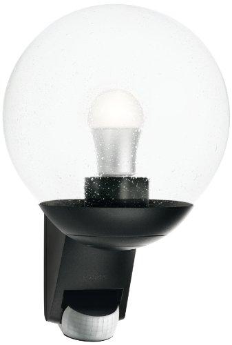Steinel-Sensor-Auenleuchte-L-585-schwarz-mit-180-Bewegungssensor-und-12-m-Reichweite-klassisches-Design-mundgeblasenen-Glaskrper-ideal-fr-Hausfronten-und-Eingnge-005535