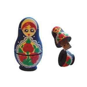 Russian Doll 32GB USB Flash Memory Drive BLACK by EASYWORLD