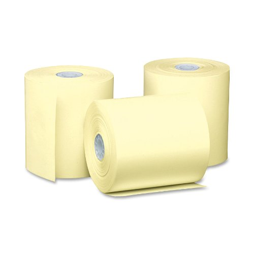pm company perfection pos canary thermal rolls inches x 230 feet 50 rolls per carton. Black Bedroom Furniture Sets. Home Design Ideas