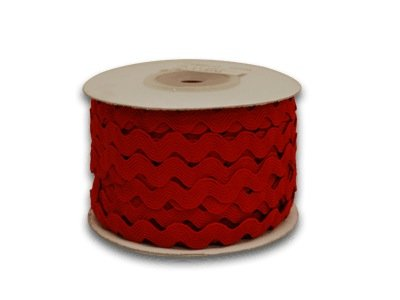 Big Save! Red Ric Rac Trim 10mm - 25 Yards