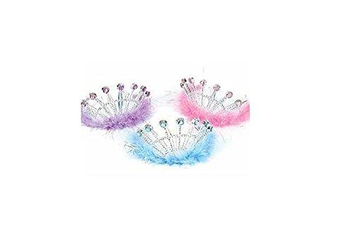 Jeweled Feather Princess Tiaras (1 dz)