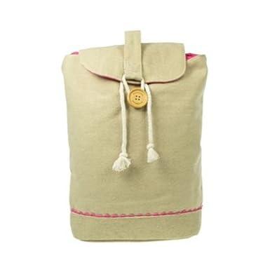 Natural Rocket Dog Canvas Buttontrim Backpack