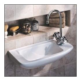 Porcher 25011 Elfe Wall-Mounted Hand Basin, White