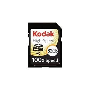 Kodak KSD32GHSBNA100 High Speed 32 GB Secure Digital High Capacity (SDHC)