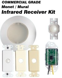 Leviton 177IR-IWA Wall Or Ceiling Mount Infrared Receiver for Mural, Ivory/White/Almond