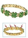 Magnetic Four-Leaf Clover Bracelet