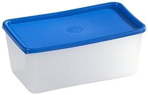 Allibert 191607 Aufbewahrungsdse, tiefkühlergeeignet, 0,75l, Polypropylen, Transparent/ Blau, 4 Stück