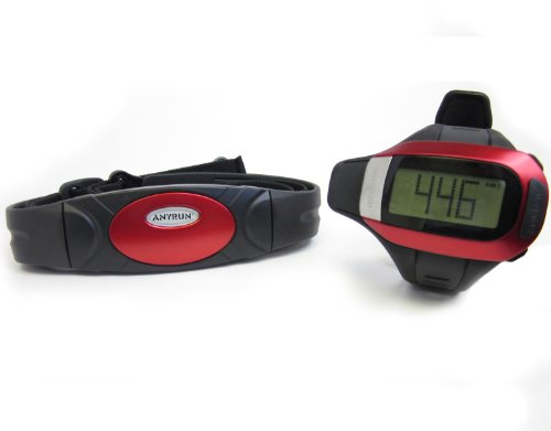 Cheap GSI Super Quality All-In-One Heart Rate Monitor Watch and Transmitter Chest Belt – Large LCD Display – USB Interface, Upload Date To Computer – Measures Distance, Speed, Steps, Calories and Fat – For Running, Jogging, Marathon Training and Walking – Chronograph, Alarm, Stopwatch Functions (GK505B)