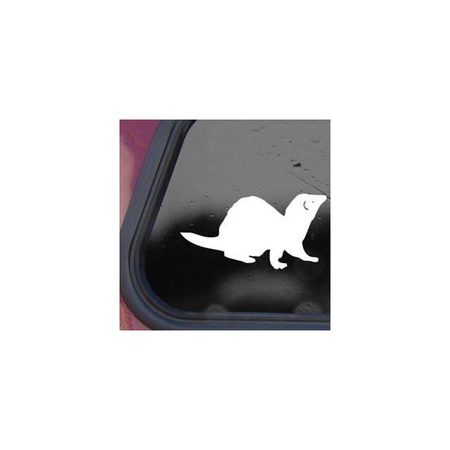Ferret White Decal Sticker Laptop Wall Notebook Car Die cut White Decal Sticker