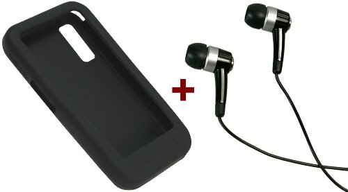 mumbi In-Ear Stereo Headset Samsung S5230 Star - BLACK Edition + mumbi Silikon Case black