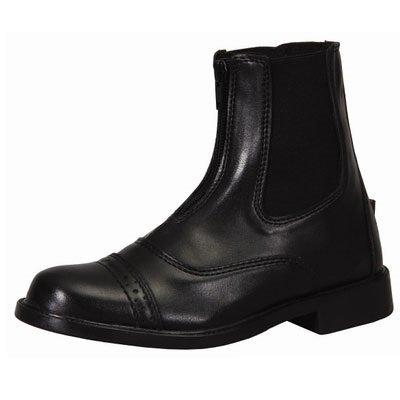 TuffRider Children's Starter Front Zip Paddock Boots, Black, 3