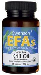 100% pure huile de krill 500 mg 60 Sgels par