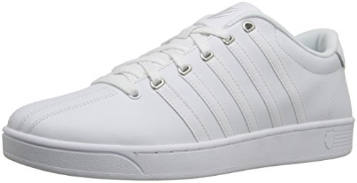K-Swiss Men's Court Pro II Fashion Sneaker, White/Silver, 13 M US