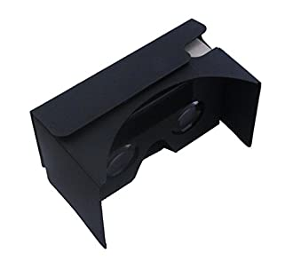 Linkcool Google Cardboard V2.0 (グーグル・カードボード 2代)3Dメガネ 3dVr  NFCタグとベルト付き 2色 (ブラック)