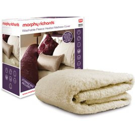 Morphy Richards 75287 Fleece Washable Heated Mattress Cover Dual Controls, Double