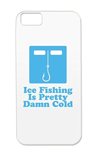 Skid-Proof Boats Outdoor Miscellaneous Bait Fisherman Water Funny Angling Fun Fish Fishing Hobbies Navy Tpu Ice Fishing Is Cold For Iphone 5C Cover Case
