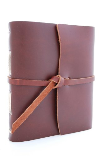 Rustic River Leather Heritage Journal - Hand Made, Saddle Brown