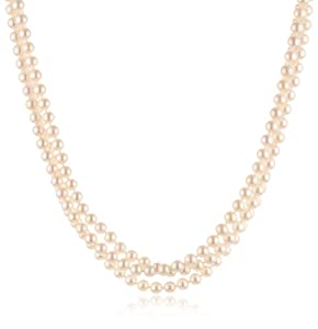 White Freshwater Cultured Pearl Endless Necklace (7-8mm ), 100