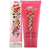 Christian Audigier Ed Hardy 2 Piece Gift Set for Women, 1.0 Ounce