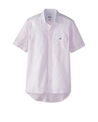 Vivienne Westwood Men's Short Sleeve Color Blocked Shirt