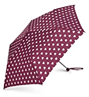 M&S Collection Heart Print Umbrella