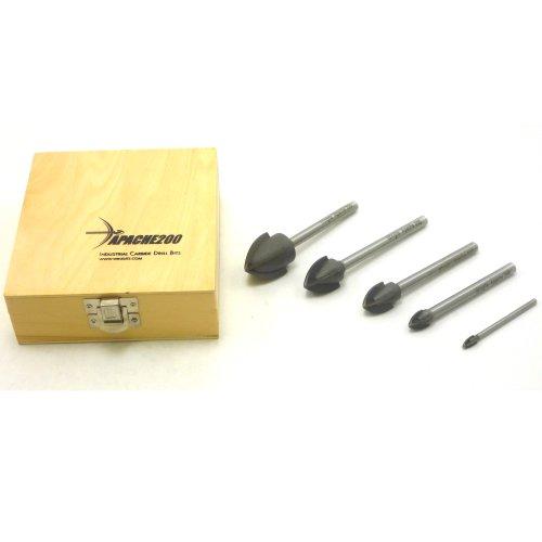 WingIts WA2005PCS Apache200 5-Piece Drill Bit Kit, Contains 1/4-Inch , 1/2-Inch 3/4-Inch, 1-Inch and 1-1/4-Inch (Apache200 Drill Bit compare prices)