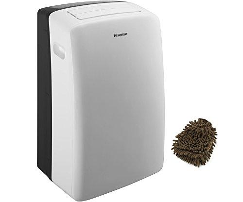CAP-12CR1SEJS Hisense Portable Air Conditioner with Remote, 12,000 BTU (Complete Set) w/ Bonus: Premium Microfiber Cleaner Bundle (Smart Sense Moisture Sensor compare prices)