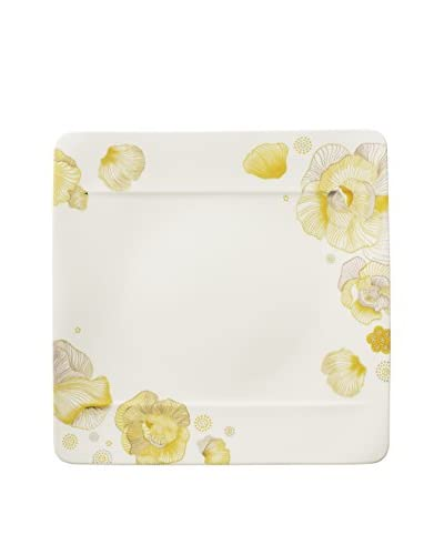 Villeroy & Boch Modern Grace Peonia Dinner Plate, Yellow/White
