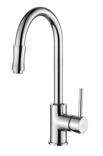 Kraus KPF-1622-KSD-30CH Single Lever Pull Out Kitchen Faucet and Soap Dispenser, Chrome